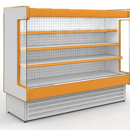 Витрины холодильные среднетемпературные — стеллажи