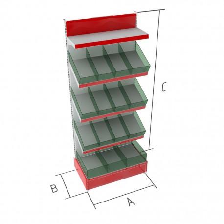 Торговые металлические стеллажи кондитерские BR-1н