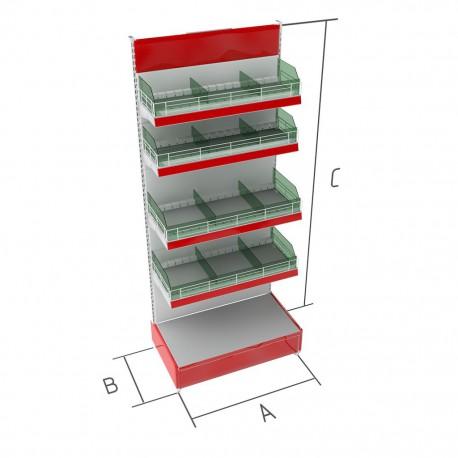 Торговые металлические стеллажи кондитерские BR-5к