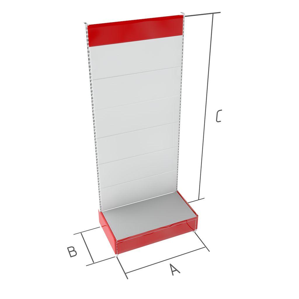 Торговые металлические стеллажи перфорированные BR-5п