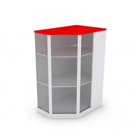 Рабочий стол-стойка со стеклом