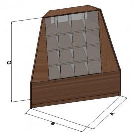 Торговый прилавок-горка угловой внутренний